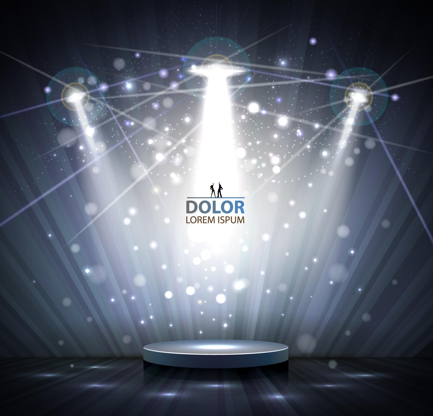 Shiny stage spotlights design elements vector 05 free download for Spotlight design
