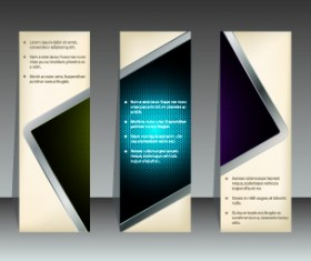 Abstract vertical banners design vector 03