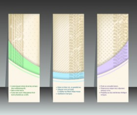 Abstract vertical banners design vector 04