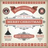 Vintage 2014 Christmas labels elements vector 01