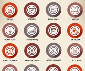 Web icons round vector set 03