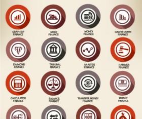 Web icons round vector set 04