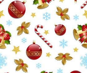 Cute Christmas seamless pattern vector 01