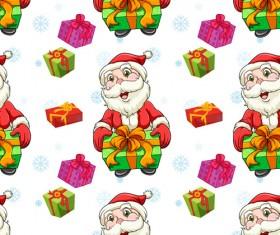 Cute Christmas seamless pattern vector 02