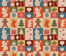 Cute Christmas seamless pattern vector 03