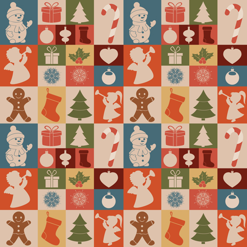 Cute Christmas seamless pattern vector 03 - Vector Christmas ...