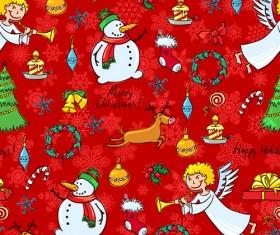 Cute Christmas seamless pattern vector 04