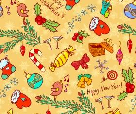 Cute Christmas seamless pattern vector 05