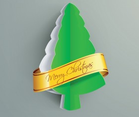 Creative Xmas tree background vector graphics 01