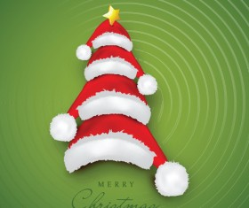 Creative Xmas tree background vector graphics 02