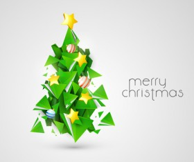 Creative Xmas tree background vector graphics 03