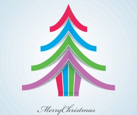 Creative Xmas tree background vector graphics 04