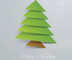 Creative Xmas tree background vector graphics 05