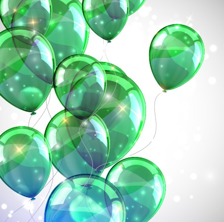 Transparent Colored Balloons Vector Background 05 Vector