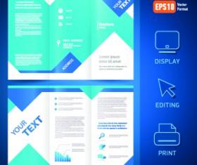 Creative brochure and booklet tri-fold design vector 01