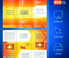 Creative brochure and booklet tri-fold design vector 02