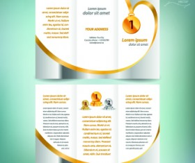 Creative brochure and booklet tri-fold design vector 03