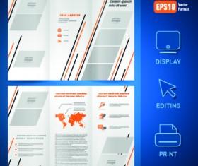 Creative brochure and booklet tri-fold design vector 04
