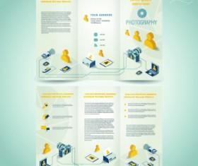 Creative brochure and booklet tri-fold design vector 05