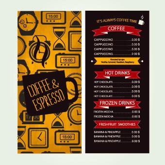 Cafe Menu Creative Design Vecor Free Download - Creative menu design templates