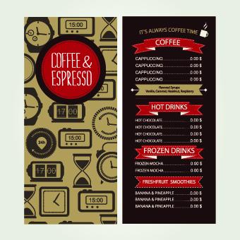 Cafe menu creative design vecor 02
