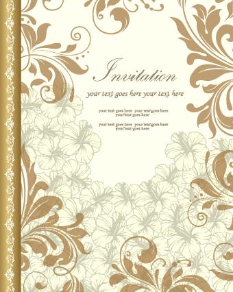 Retro style floral ornament invitation card vector 01 free download retro style floral ornament invitation card vector 01 stopboris Gallery