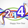 Abstract 2014 New Year vector background 01