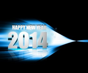 Abstract 2014 New Year vector background 03