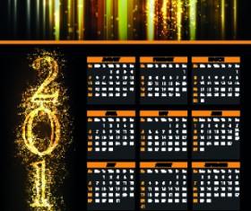 2014 Fireworks calendar vector