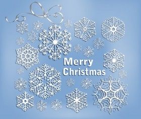 2014 Merry Christmas snowflake background graphics 02
