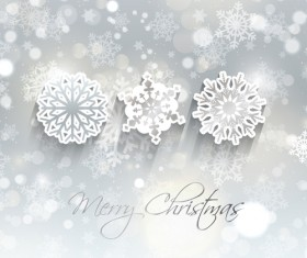 2014 Merry Christmas snowflake background graphics 05
