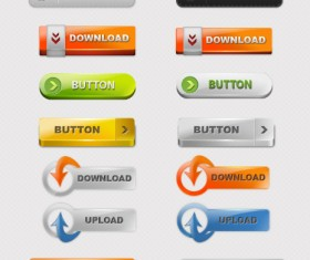 Shiny web buttons psd material