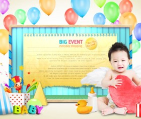 Creative Children Photography psd template 02