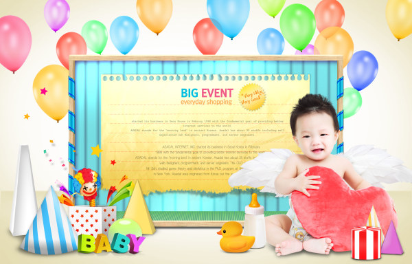 Creative Children Photography psd template 02 - PSD Templates free ...