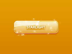 Shiny golden psd button