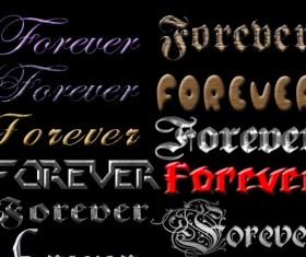 Vintage texture font