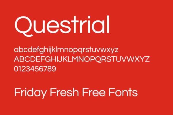 Modern font set