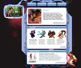 Games style website template