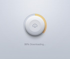 Round download button psd