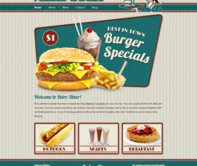 Fast food websites template psd