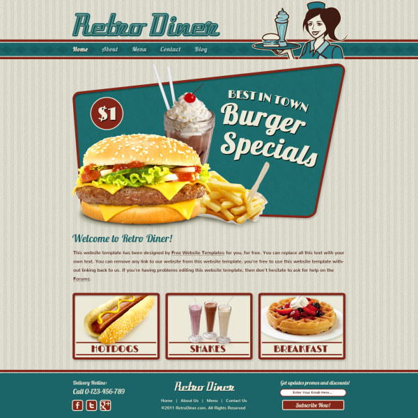 Fast Food Websites Template Psd Free Download