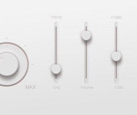 Music player Rotate button psd material