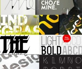 100 Kind creative font
