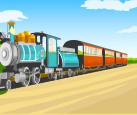 Cartoon Retro Train vector