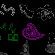 Link toHand drawn chemical elements photoshop brushes