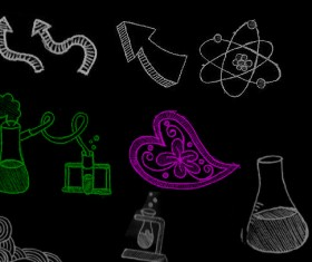 Hand drawn chemical elements Photoshop Brushes