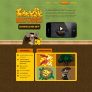 Link toVintage cartoon style website template psd material