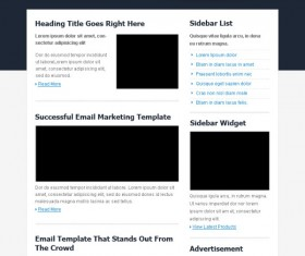 Exquisite dark style website psd template 02