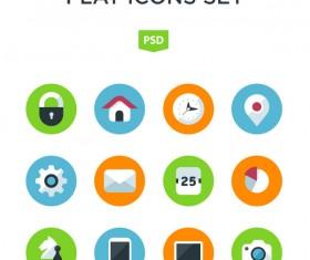 Flat app icons psd set
