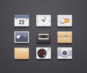 9 kind app icons creative psd material